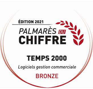 récompense monde du chiffre médaille de bronze TEMPS 2000