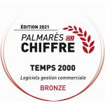 monde du chiffre médaille de bronze TEMPS 2000